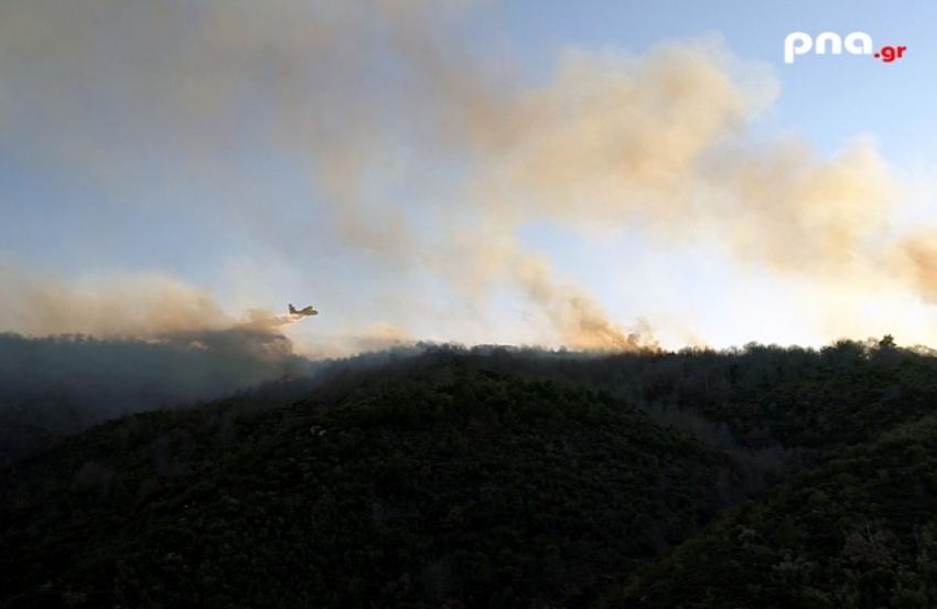 Πυρκαγιά σε δασική έκταση στην περιοχή Κεραστάρη Βαλτετσίου - Δείτε την κατάσβεση από τα εναέρια μέσα που την έθεσαν υπο έλεγχο (vid)
