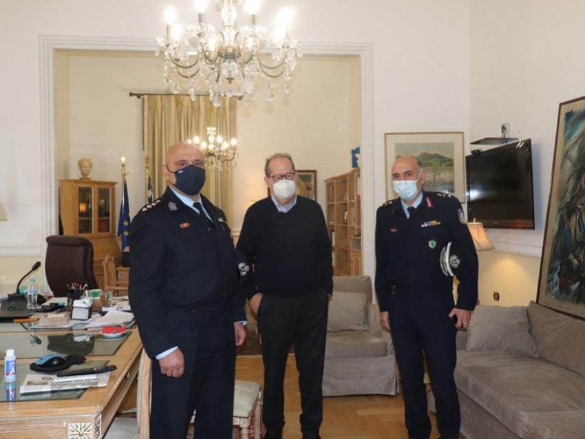 Ο περιφερειάρχης συναντήθηκε με τον νέο αστυνομικό διευθυντή Αρκαδίας