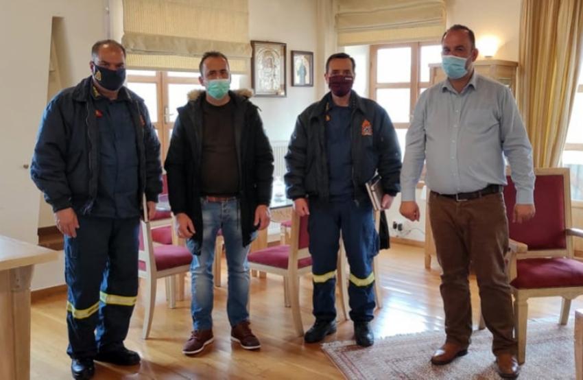 Συνάντηση Δημάρχου Γορτυνίας με το νέο Διοικητή Πυροσβεστικής Υπηρεσίας Αρκαδίας