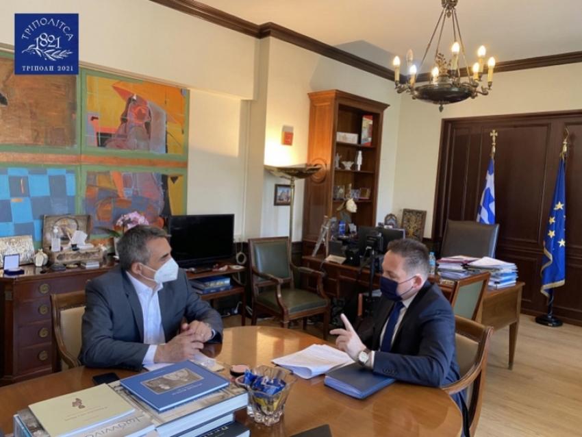 Κ. Τζιούμης: «Με όλες μας τις δυνάμεις εξασφαλίζουμε έργα για την Τρίπολη και τα χωριά μας»