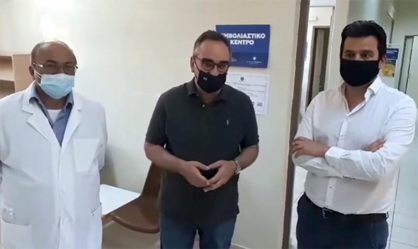Ο αν. Υπουργός Υγείας, Βασίλης Κοντοζαμανης, επισκέφθηκε σήμερα 08/05 το κέντρο υγείας Λεωνιδίου