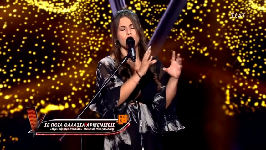Η Ελευθερία Τσαγκίρη από την Τρίπολη ερμήνευσε στο The Voice τραγούδι στη νοηματική (vid)